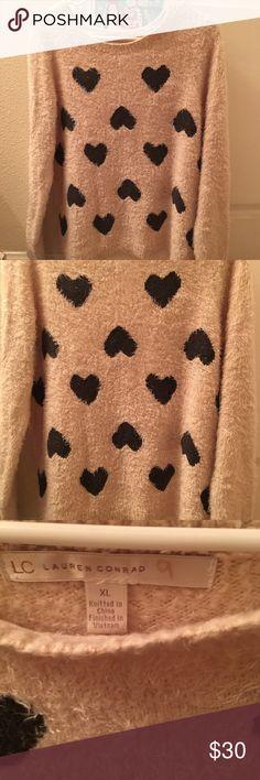 Lauren Conrad Heart Sweater Worn a few times! LC Lauren Conrad Sweaters
