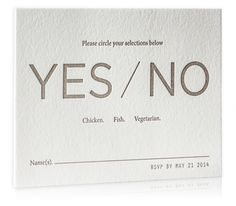 Letterpress Reply Card / Modern / Chic / Neutral / Sophisticated / Luxury / Wedding Invitation Suite