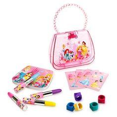 Disney Princess Creativity Set w/ glittering purse-shaped carry case NWT Girls #Disney