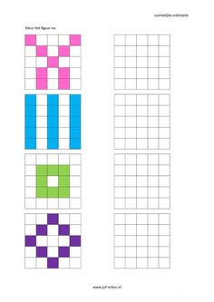 This worksheet and much more in the category spatial orientation - coloring . Montessori Math, Preschool Learning, Kindergarten Activities, Preschool Activities, Teaching, Art Worksheets, Worksheets For Kids, Visual Perceptual Activities, Math Patterns