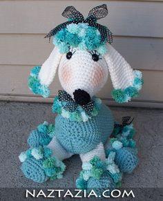 Crochet poodle amigurumi