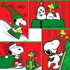 Snoopy & Woodstock Christmas - peanuts gang ready for Christmas with your bestie! Peanuts Christmas, Christmas Cartoons, Charlie Brown Christmas, Charlie Brown And Snoopy, Christmas Art, Christmas Scenes, Peanuts Cartoon, Peanuts Snoopy, Snoopy Love