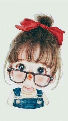 Cute Cartoon Pictures, Cute Cartoon Drawings, Girly Drawings, Cute Cartoon Girl, Cartoon Girl Drawing, Anime Girl Drawings, Anime Art Girl, Cartoon Art, Cute Love Wallpapers