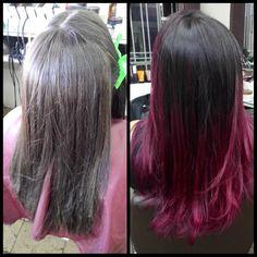 Ombre hair marsala!!!