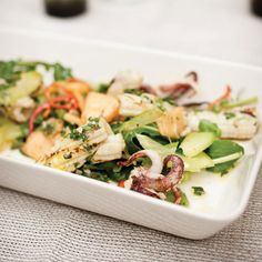 Grilled Squid Salad with Arugula and Melon   Food & Wine