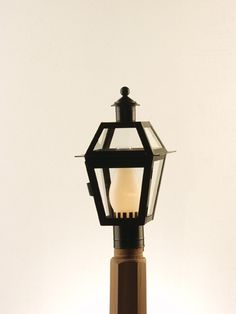 6P (BLK) Small Boston Post Lantern. Made from Solid Brass with Black finish. Made at Newstamp Lighting Corp in USA. See website for dimensions and pricing.
