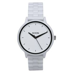 NIXON Women's A261-100 Ceramic Analog White Dial Watch NIXON. $389.00. Water-resistant to 30 M (99 feet). Quartz movement. Scratch resistant mineral. Case diameter: 37 mm. Ceramic case. Save 22%!