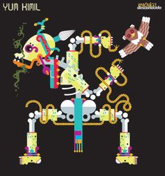 Yum kimil, dios maya de la muerte #DiosesMayas #MundoMaya / Ilustración: Oldemar