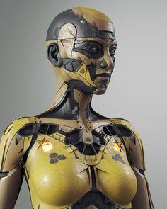 Human Like Robots, Human Cyborg, Robot Monster, 3d Human, Mannequin Art, Robots Characters, Robot Girl, Photoshop Images, Robot Concept Art