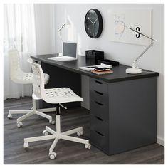 New Makeup Table Ikea Alex Drawer Unit Ideas Bureau Alex Ikea, Ikea Alex Desk, Ikea Alex Drawers, Ikea Desk, Desk With Drawers, Diy Desk, Makeup Table Ikea, Ikea Linnmon, Rangement Makeup