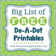 Big List of FREE Do-a-Dot Printables