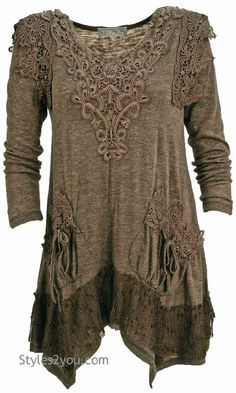 Pretty Angel Clothing Lola Tunic In Ecru Hippie Outfits, Chic Outfits, Kinds Of Clothes, Clothes For Women, Pretty Angel Clothing, Antique Clothing, Clothing Redo, Sewing Clothes, Vintage Outfits