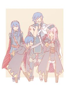 Fire Emblem: Awakening - Family Gathering i don't care about what people say about chrom and the avatar, THIS IS FREAKING ADORABLE!!!!!!!