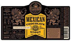 Mexican Chocolate Stout label design- Josh Emrich