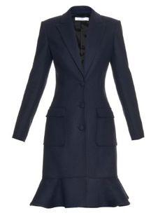 Cooper ruffled-hem virgin-wool blend coat  | Altuzarra | MATCHESFASHION.COM US
