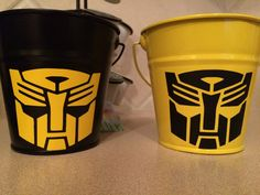 I will be using these Bumble Bee Transformer tins, as center pieces for my sons 5th birthday party.