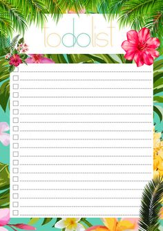 TO DO LIST tropical summer edition