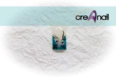 Azur mit Stamping und Malerei