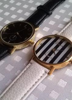 Kup mój przedmiot na #vintedpl http://www.vinted.pl/akcesoria/bizuteria/10655198-zegarek-z-bialym-paskiem-i-tarcza-w-czarne-paseczki