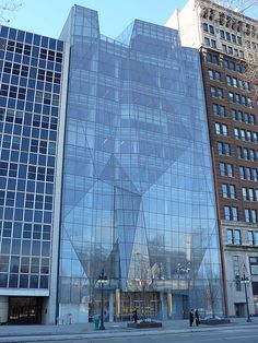This facade is so beautiful!  Spertus Museum Chicago's jewish Museum by mmmmarshall, via Flickr