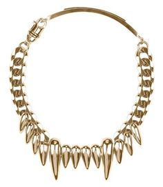 Givenchy, A/W 11 Necklace Gold Fangs, Gold Teeth, Tooth Necklace, Gold Necklace, Gangsta Grillz, Gold Grill, Street Goth, Gold Everything, Jewelry Box