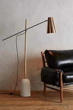 Slanted Copper Floor Lamp - anthropologie.com