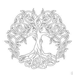 Celtic Mandala Coloring Pages Celtic Tree Of Life Coloring Free Printable Coloring Pages, Free Coloring Pages, Coloring Books, Celtic Mandala, Celtic Art, Celtic Dragon, Mini Mandala, Crochet Mandala, Mandala Art