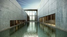 """Pulitzer Art Foundation - St. Louis, MO  Tadao Ando, Architect """"The Water Court"""""""