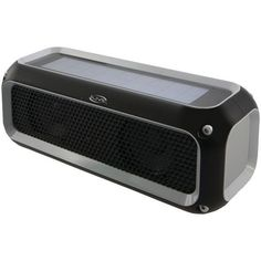 ILIVE iSBW405B Rugged Sport Bluetooth(R) Speaker • Water-resistant (IPX4) & rugged design • Solar rechargeable • Supports Bluetooth(R) & A2DP • Features aux input, micro USB port, LED pairing indicato