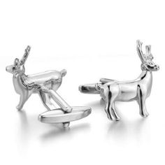 Deer Animal Hunters Cufflinks Gift Box /& Cleaner