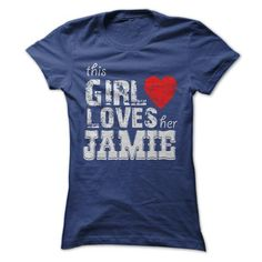This Girl Loves Her JAMIE - #tshirt display #cream sweater. WANT THIS => https://www.sunfrog.com/LifeStyle/This-Girl-Loves-Her-JAMIE-36582490-Ladies.html?68278