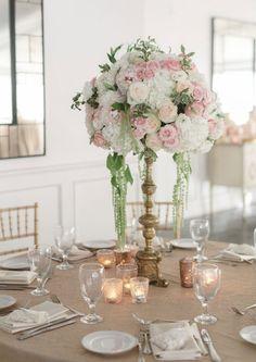 Wedding reception centerpiece idea; Featured Photographer: Anna Delores Photography