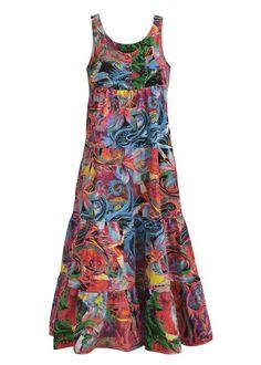Vestido de malha Ideias Fashion, Summer Dresses, Clothes, Girls, Block Dress, Neckline, Summer Sundresses, Maxi Dresses, Layered Dresses