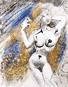 * Salvador Dalí - - - Marylin Monroe / 1967 / Etching
