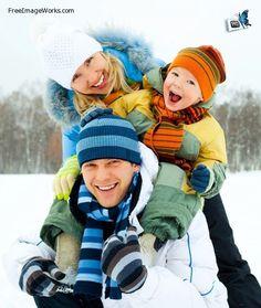 Winter family photo idea