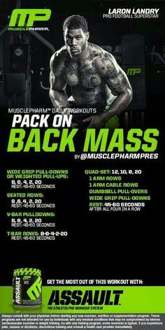 MusclePharm Pack on Back Mass