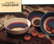 Colorful Spirits Coiled Baskets- Tutorial.. I have made many of these out of clothesline and yarn.