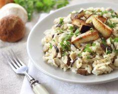 Risotto aux champignons et échine de porc maison