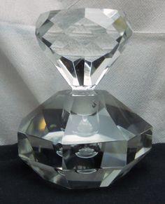 Vintage Cut Glass / Crystal Diamond Shapped Stopper & Base / Perfume Bottle 5 Crystal Diamond, Glass Crystal, Tequila Bottles, 80th Birthday, Cut Glass, Perfume Bottles, Base, Crystals, Vintage