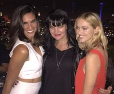"""""""Me and the NCIS BEAUTIES Daniela Ruah and Emily Wickersham at CBS party. LOVE THESE SWEET GALS!"""""""