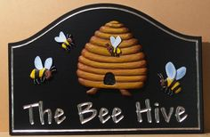 The Bee Hive Sign / Danthonia Designs