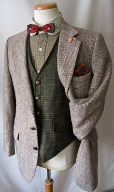 VTG HARRIS TWEED Blazer di lana 40 R giacca di SparrowsAndWolves Твидовые  Костюмы, Твидовый Пиджак 1e6245d6d31
