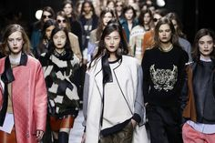 Fashion Week beauty got grapey: Phillip Lim's burgundy lips were done with Nars Mambo eyeliner
