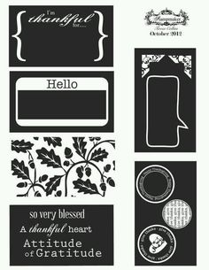 Print out tags for your cards or scrap booking pages.