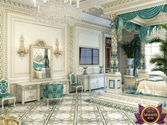 Bedroom Design in Dubai, luxury Royal Master bedroom design, Photo 3