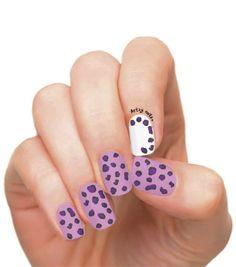 Artzy Nails   Purple Leopard