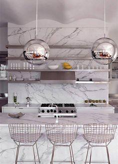 Marmo di Carrara #kitchen #modern #design #home