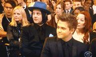 Jack's reaction to someone mentioning vinyl at the Grammys tonight, LOL [animated gif]