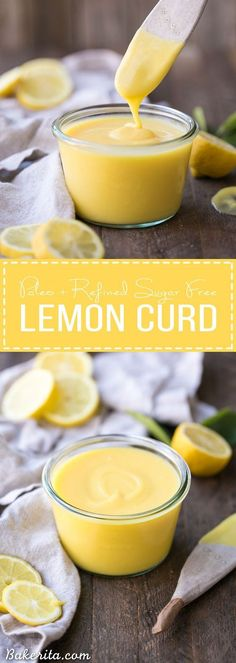 This Paleo Lemon Curd is easy to make, super silky, and perfectly tart. It's a refined sugar free honey-sweetened recipe made with just five ingredients. It's perfect to drizzle on pancakes or waffles, swirl into your yogurt, use it in baked goods, or just eat it with a spoon!
