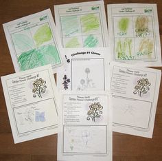 Garden Flowers Notebook Pages by prayingmother, via Flickr. Outdoor Hour Challenges.
